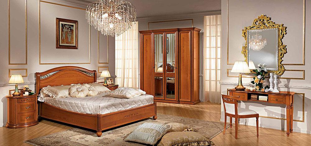 Строгая спальня цвет орех